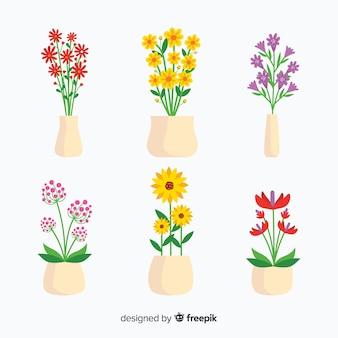 Collection de bouquet de fleurs de printemps