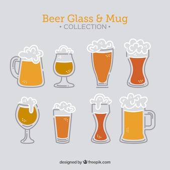 Collection de bouteilles de bière plate