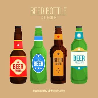 Collection de bouteilles de bière vintage