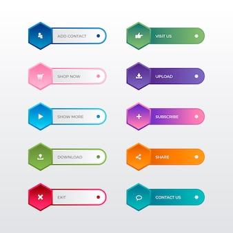 Collection de boutons d'appel à l'action dégradé
