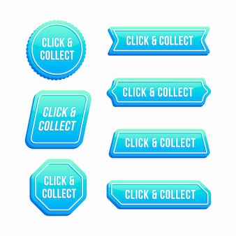 Collection de boutons click and collect
