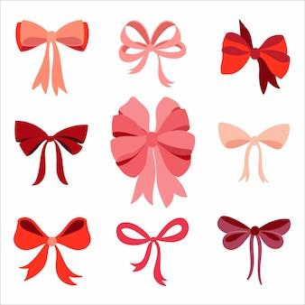 Collection bow avec différents objets