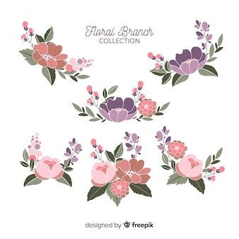 Collection de branches florales