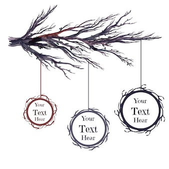 Collection de branches vectorielles