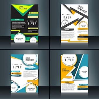 Collection de la brochure d'affaires