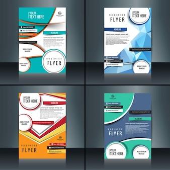 Collection de brochure d'affaires