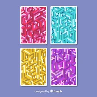 Collection de brochures colorées isométriques