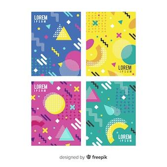 Collection de brochures colorées de memphis