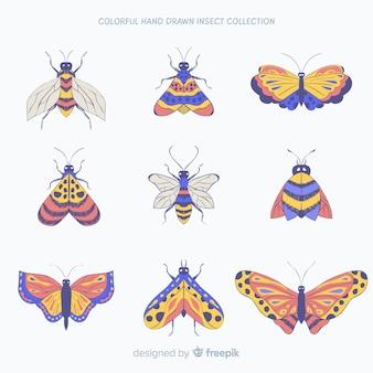 Collection de bugs dessinés à la main