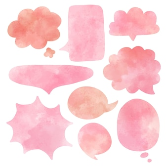 Collection de bulles aquarelle