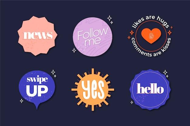 Collection de bulles d'argot des médias sociaux