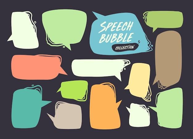 Collection de bulles et de bulles de dialogue