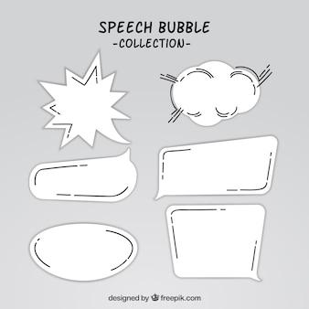 Collection de bulles de parole