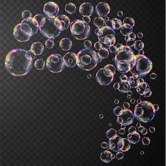 Collection de bulles de savon réalistes