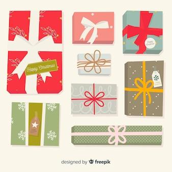 Collection de cadeaux de noël