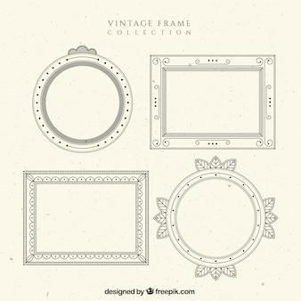 Collection de cadre dans le style vintage