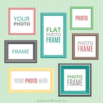 Collection de cadre décoratif plat