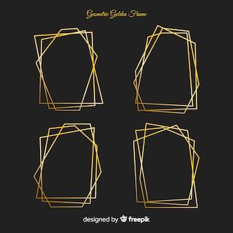 Collection cadre doré géométrique