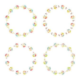 Collection de cadre de fleurs. ensemble de carte avec des fleurs pour des invitations de mariage et des cartes d'anniversaire