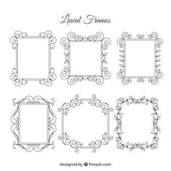Collection de cadre avec style linéaire