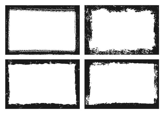 Collection de cadres abstraite grunge noir