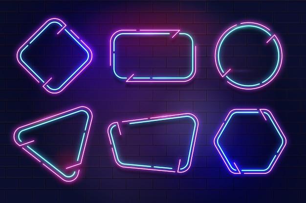 Collection de cadres au néon