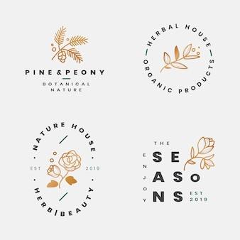 Collection de cadres botaniques floraux