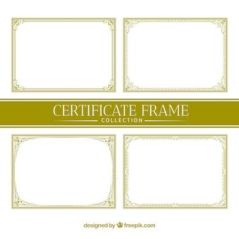Collection de cadres de certificats ornementaux