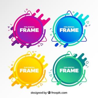 Collection de cadres avec des couleurs dégradées