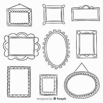 Collection de cadres décoratifs dessinés à la main