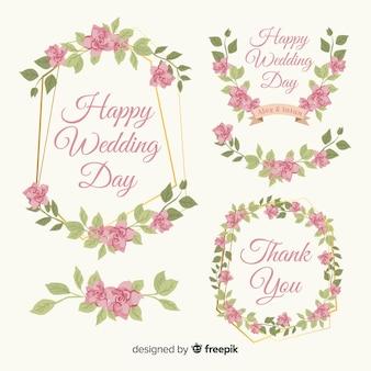 Collection de cadres et de décorations florales de printemps
