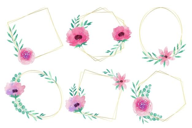 Collection de cadres floraux