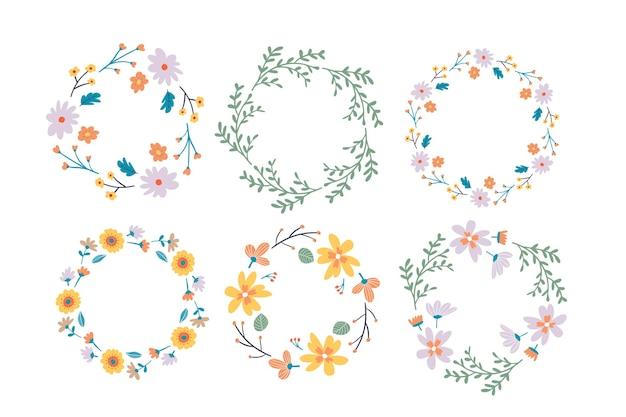 Collection de cadres floraux.