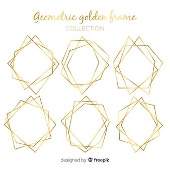 Collection de cadres géométriques dorés