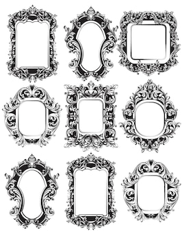 Collection de cadres de miroir baroque