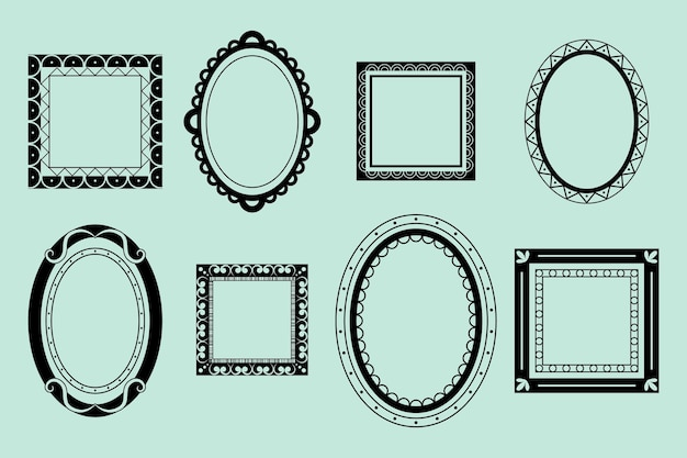 Collection de cadres ornementaux dessinés à la main