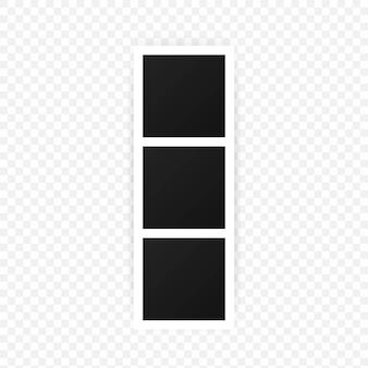 Une collection de cadres photo vierges. encadrement vide pour votre conception. modèle vectoriel pour photo, peinture, affiche, lettrage ou galerie de photos. vecteur eps 10. isolé sur fond transparent.