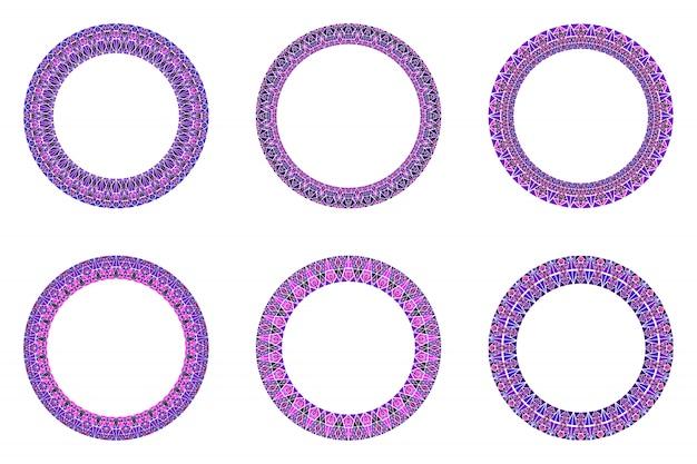 Collection de cadres de triangle géométrique - éléments circulaires
