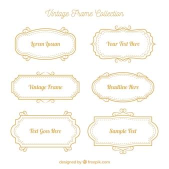 Collection de cadres vintage avec différents ornements