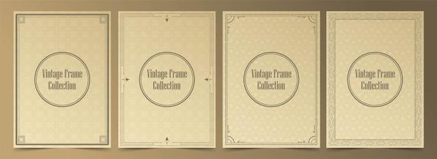 Collection de cadres vintage de luxe