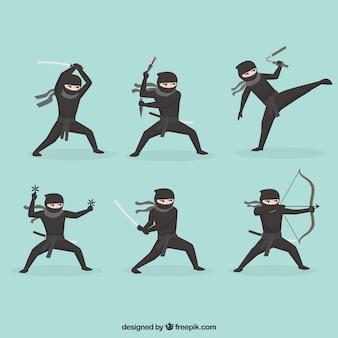 Collection de caractères ninja