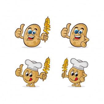 Collection de caractères de pommes de terre