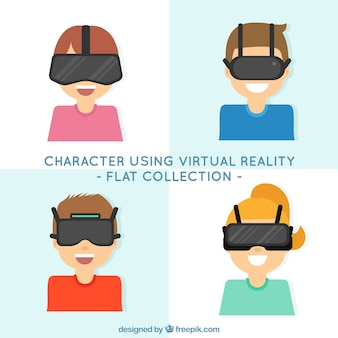 Collection de caractères en utilisant des lunettes de réalité virtuelle