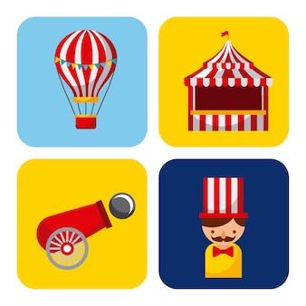 Collection carnaval et festival de cirque