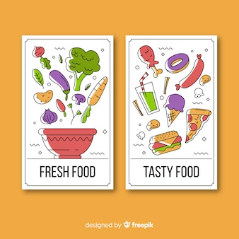 Collection de cartes alimentaires