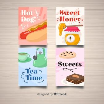 Collection de cartes alimentaires