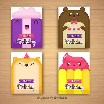 Collection de cartes d'anniversaire