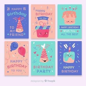 Collection de cartes d'anniversaire