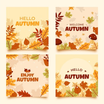 Collection de cartes d'automne