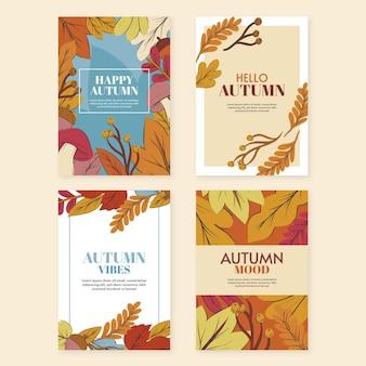 Collection de cartes d'automne